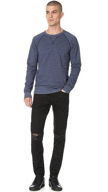 Velva Sheen Raglan Crew Neck Sweatshirt