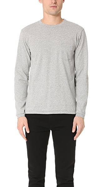 Velva Sheen Long Sleeve Pocket Pullover
