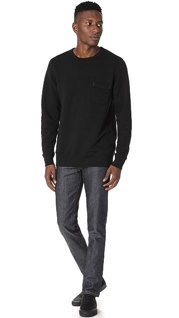 Velva Sheen Loopwheeler Crew Sweatshirt with Pocket