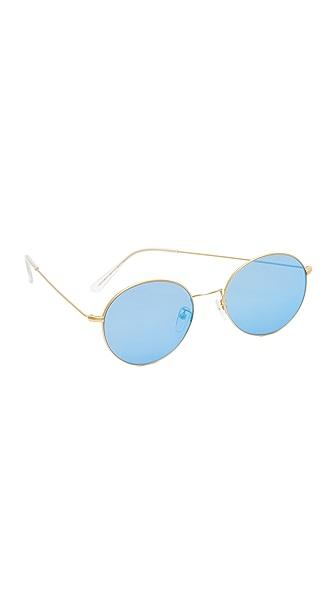 Vedi Vero Round Sunglasses - Gold/Blue