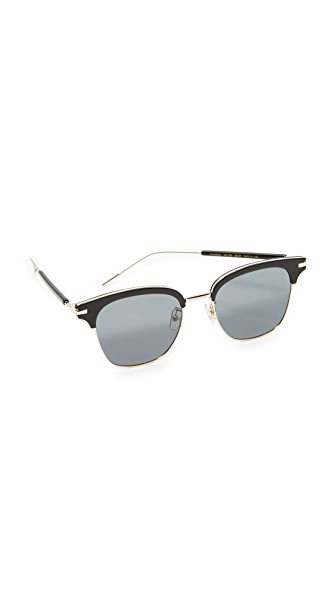 Vedi Vero Classic Square Club Sunglasses In Black/Grey