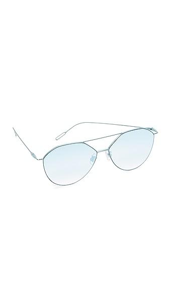 Vedi Vero Vedi by Vedi Vero Geometric Aviator Sunglasses In Gold/Blue