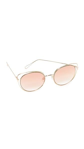Vedi Vero Vedi by Vedi Vero Cat Eye Sunglasses - Gold/Brown