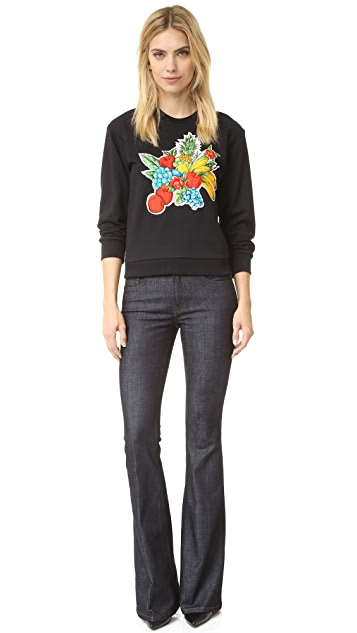 Victoria Victoria Beckham Quilted Patch Sweatshirt