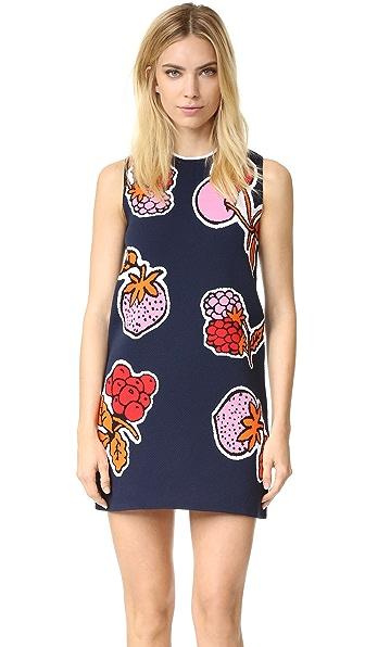 Victoria Victoria Beckham Jacquard Patch Shift Dress