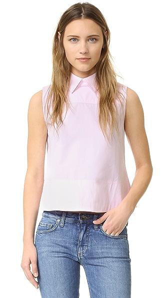 Victoria Victoria Beckham Tie Back Sleeveless Shirt