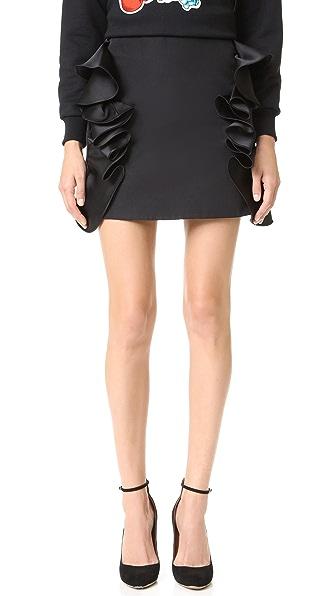 Victoria Victoria Beckham Мини-юбка с оборчатой отделкой