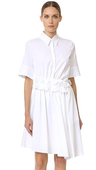 Victoria Victoria Beckham Ruffle Waist Shirtdress
