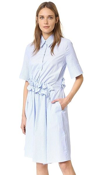 Victoria Victoria Beckham Ruffle Waist Shirt Dress