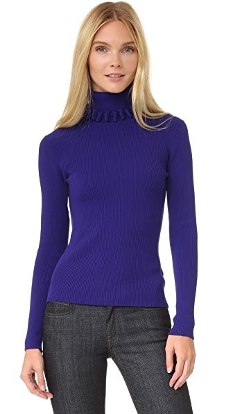 Victoria Victoria Beckham Loop Edge Turtleneck Sweater