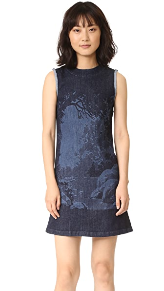 Victoria Victoria Beckham Tunic Dress In Hidden Forest
