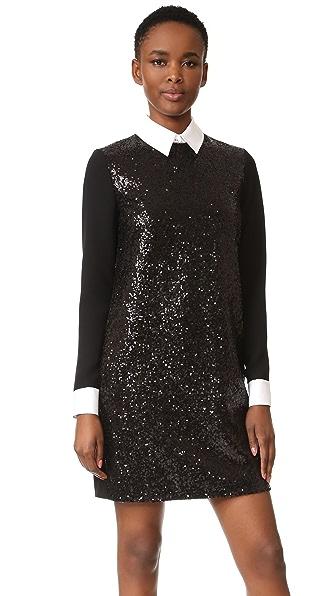 Victoria Victoria Beckham Свободное платье с длинными рукавами