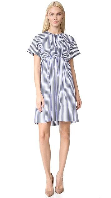 Victoria Victoria Beckham Striped Empire Dress