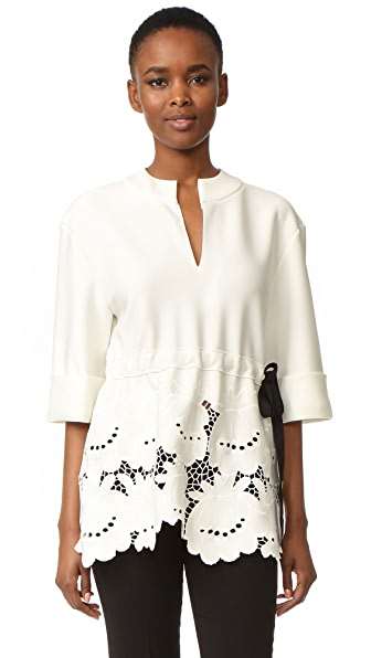 Victoria Victoria Beckham Embroidered Top
