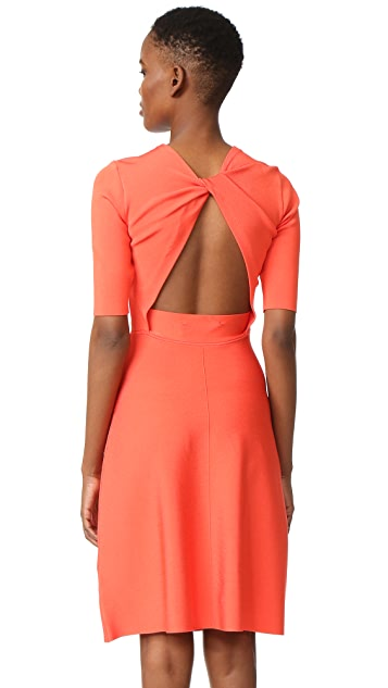 Victoria Victoria Beckham Twist Open Back Dress