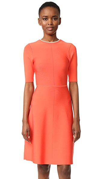Victoria Victoria Beckham Twist Open Back Dress - Hot Coral