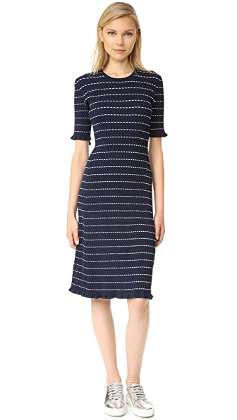 Victoria Victoria Beckham Flounce Trim Dress