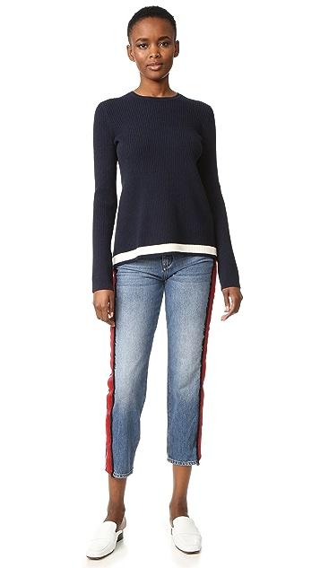 Victoria Victoria Beckham Open Back Rib Sweater