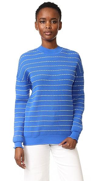 Victoria Victoria Beckham Flounce Trim Sweater
