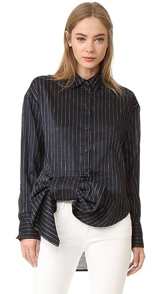 Victoria Victoria Beckham Рубашка с асимметричным бантом