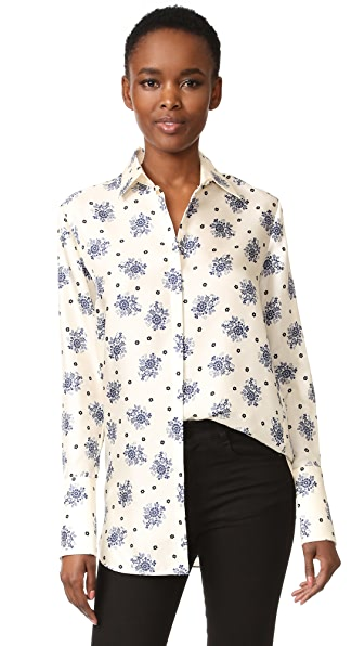 Victoria Victoria Beckham Рубашка с принтом