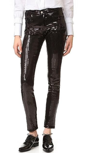 Victoria Victoria Beckham Skinny Sequin Pants
