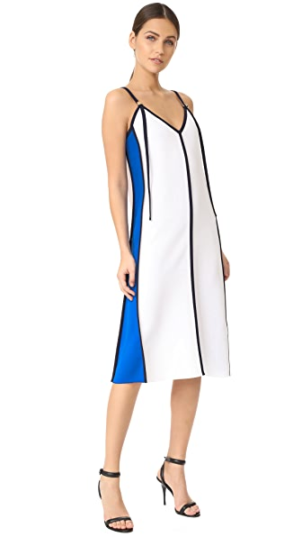 Victoria Victoria Beckham Panel V Neck Dress