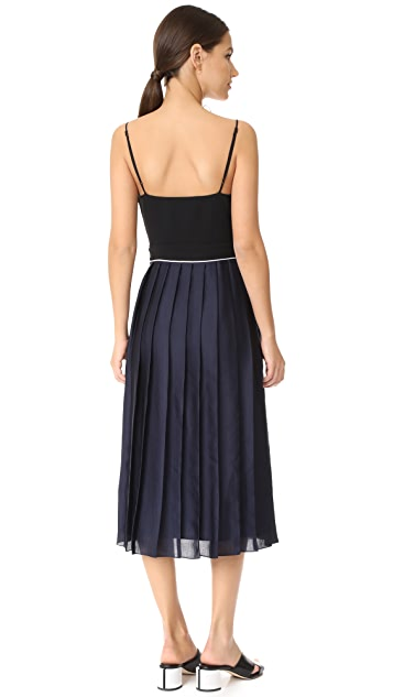 Victoria Victoria Beckham Pleat Cami Midi Dress