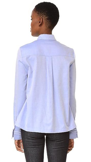 Victoria Victoria Beckham Ruffle Trim Trapeze Shirt