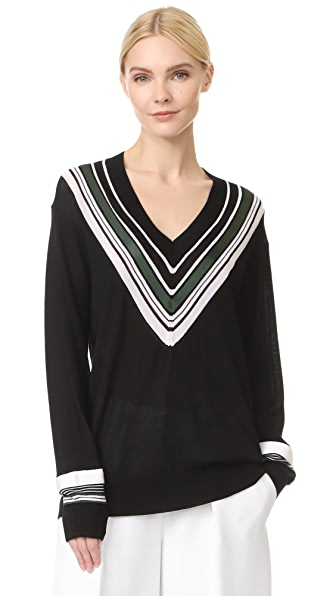 Victoria Victoria Beckham Oversized V Neck Sweater