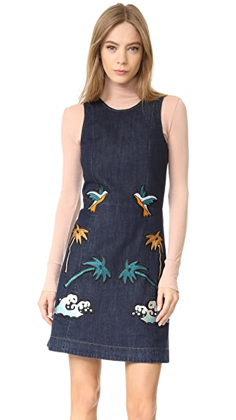 Victoria Victoria Beckham Denim Shift Dress