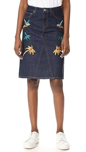 Victoria Victoria Beckham Front Cross Skirt