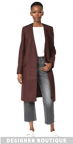 Collarless Straight Coat Victoria Victoria Beckham