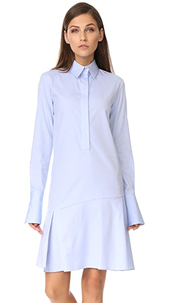 Photo of Victoria Victoria Beckham Flounce Shirtdress online sales
