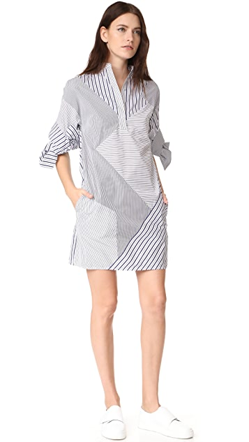 Victoria Victoria Beckham Bow Sleeve Shift Dress