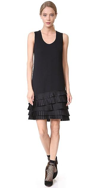 Victoria Victoria Beckham Pleat Hem Shift Dress