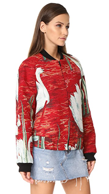 Victoria Victoria Beckham Raglan Bomber Jacket