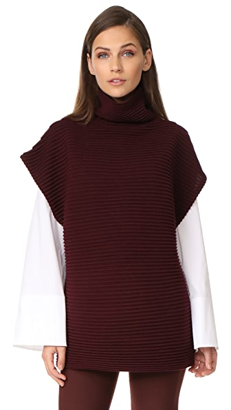 Victoria Victoria Beckham Sleeveless Funnel Neck Sweater