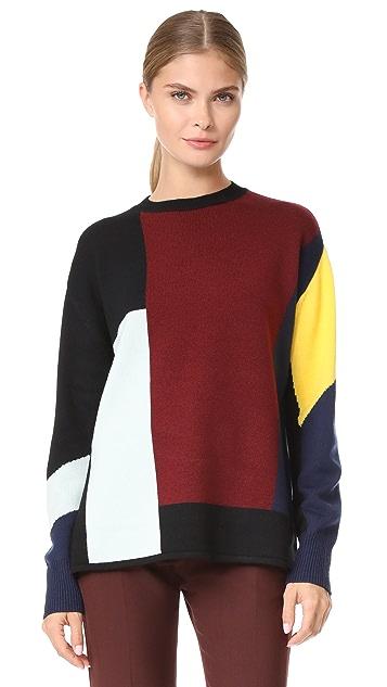 Victoria Victoria Beckham Patchwork Sweater