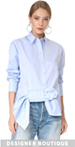 Asymmetrical Bow Shirt Victoria Victoria Beckham