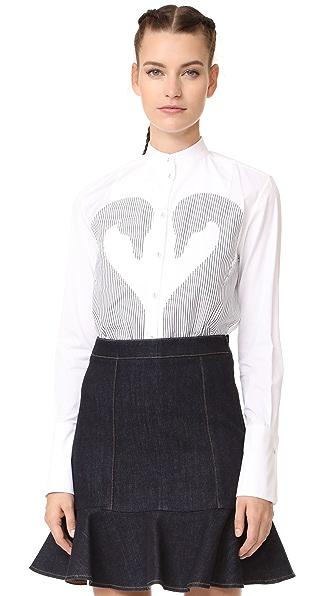 Victoria Victoria Beckham Applique Shirt - White