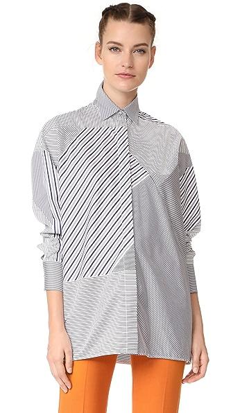 Victoria Victoria Beckham Raglan Shirt - Black/White/Navy