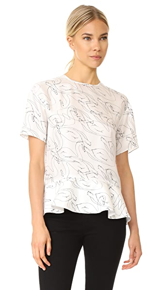 Victoria Victoria Beckham Drop Shoulder Peplum Top