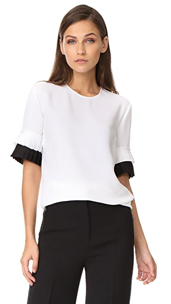 Victoria Victoria Beckham Pleat Sleeve Top