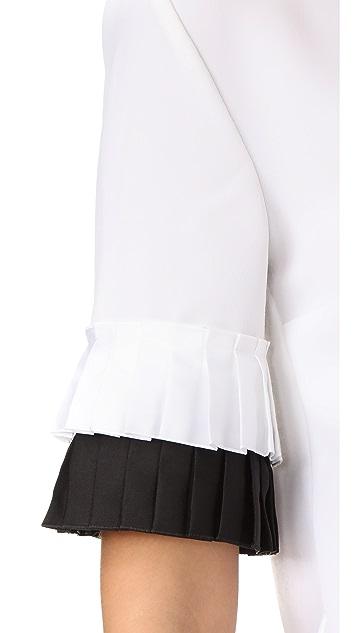 Victoria Victoria Beckham Pleat Sleeve Top