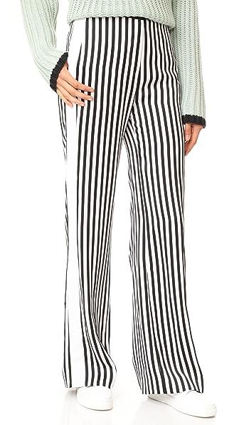 Victoria Victoria Beckham Relax Tux Pants - Black/White