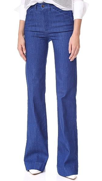 Victoria Victoria Beckham Wide Leg Jeans In Lapsin Blue