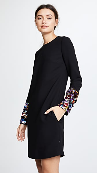 Victoria Victoria Beckham Sequin Cuff Shift Dress