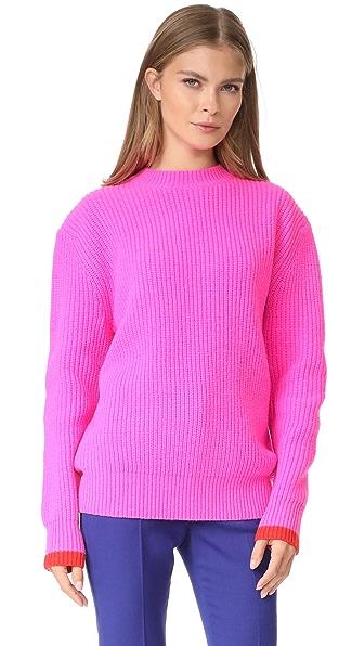 Victoria Victoria Beckham Boyfriend Sweater - Neon Pink/Postbox Red
