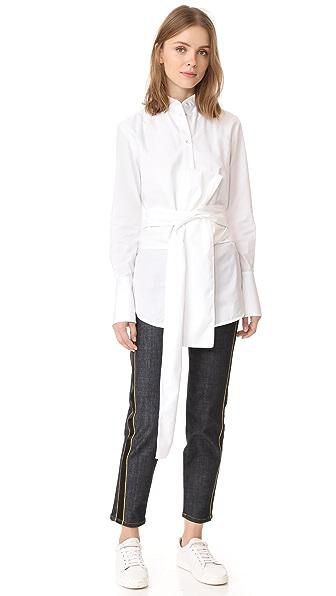 Victoria Victoria Beckham Tie Shirt